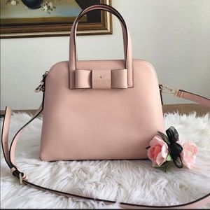 Kate spade bow MD leather satchel